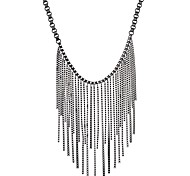 Women's Choker Necklaces Chain Necklaces Round Alloy Tassel Fashion Jewelry For Stage Going out