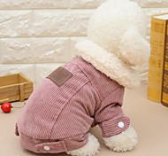 cheap -Cat Dog Dog Clothes Casual/Daily Solid Coffee Red Costume For Pets