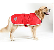 Dog Coat Dog Clothes Waterproof Keep Warm Solid Orange Red Blue Jade Costume For Pets