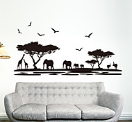 cheap -Animals Fashion Wall Stickers Plane Wall Stickers Decorative Wall Stickers, Plastic Home Decoration Wall Decal Wall