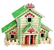 abordables -Puzzles 3D Puzzles de Madera Juguetes de construcción Modelo de madera Juguetes Casa Animales 3D Casas De moda Gran venta Manualidades