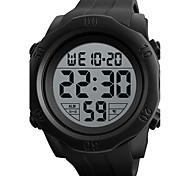Men's Sport Watch Digital Watch Digital Silicone Band Black Green