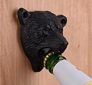 чугун металлический настенный черный медведь пивная бутылка открывалка кухня полезный инструмент