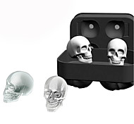 3D Silicone Skull Ice Cube Molds Whiskey Cocktail Ice Ball Ice Cream Maker Tray Bar DIY Tool