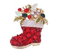 Недорогие -Жен. Броши Синтетический алмаз Симпатичные Стиль Рождество Циркон Прочее Бижутерия Назначение Рождество На выход