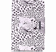 cheap -Case For Samsung Galaxy Full Body Cases Tablet Cases Leopard Leopard Print Hard PU Leather for Tab E 9.6