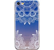 cheap -Case For Apple iPhone X iPhone 8 Ultra-thin Transparent Pattern Back Cover Lace Printing Soft TPU for iPhone X iPhone 8 Plus iPhone 8