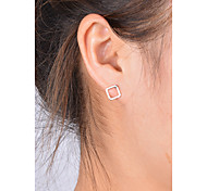cheap -Women's Stud Earrings - Fashion Gold / Silver Square Earrings For Daily / Casual