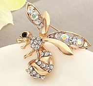 Women's Brooches Synthetic Diamond Adorable Classic Rhinestone Alloy Animal Shape Jewelry For Daily Stage