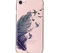 cheap -Case For iPhone X iPhone 8 Ultra-thin Transparent Pattern Back Cover Feathers Soft TPU for iPhone X iPhone 8 Plus iPhone 8 iPhone 7 Plus
