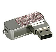 cheap -8G U Disk Crystal  Pen Drive  Pen Drive Jewelry Usb Flash Drive USB 2.0 Christmas Gift