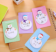 1 PC Snowman Pattern Self-Stick Notes