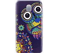 cheap -Case For Samsung Galaxy J7 (2017) J5 (2017) Glow in the Dark IMD Pattern Back Cover Owl Soft TPU for J7 (2017) J7 (2016) J5 (2017) J5