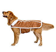 cheap -Dog Coat Vest Dog Clothes Casual/Daily Keep Warm Wedding Sports New Year's British Brown Costume For Pets