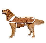 Недорогие -Собака Плащи Жилет Одежда для собак На каждый день Сохраняет тепло Свадьба Спорт Новый год Английский Коричневый Костюм Для домашних