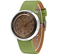 Недорогие -JUBAOLI Жен. Модные часы Наручные часы Китайский Кварцевый Кожа Группа Кулоны На каждый день Cool Черный Белый Коричневый Зеленый