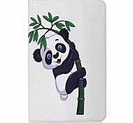 panda y patrón de bambú titular de titular de la tarjeta con estuche de pie flip magnético pu caso de cuero para Samsung Galaxy Tab e 9.6