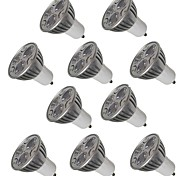 cheap -10PCS 3W GU10 LED Spotlight 3 leds Warm White Cold White 250lm 2200-6500K AC 220-240V