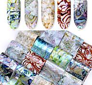 Недорогие -16pcs Наклейка для ногтей Шаблон шаблона для ногтей Инструмент для ногтей Изысканный и современный Модный дизайн
