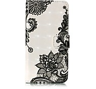 For iPhone X iPhone 8 Case Cover Wallet Card Holder with Stand Flip Pattern Full Body Case Lace Printing Hard PU Leather for Apple iPhone