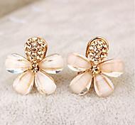 cheap -Women's Clip Earrings Rhinestone Rhinestone Alloy Flower Jewelry For Party Daily