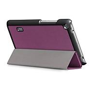 caja de cuero de la PU del patrón de color sólido con el sueño para huawei mediapad t3 7.0 pulgadas tablet pc