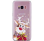 Case For Samsung Galaxy S8 Plus S8 Transparent Pattern Back Cover Cartoon Christmas Soft TPU for S8 Plus S8 S7 edge S7