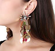 cheap -Women's Drop Earrings Front Back Earrings Rhinestone Sexy Oversized Acrylic Rhinestone Peacock Jewelry For Party Club