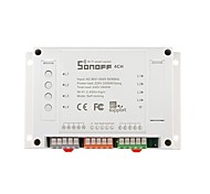 SONOFF® 4CH 4 Channel 10A 2200W 2.4Ghz Smart Home WIFI Wireless Switch APP Remote Control AC 90V-250V