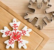 Недорогие -рождественские снежинки печенье резак из нержавеющей стали бисквит торт пресс-формы для выпечки
