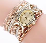 preiswerte -Damen Quartz Simulierter Diamant Uhr Armband-Uhr Chinesisch Imitation Diamant PU Band Charme Freizeit Elegant Modisch Schwarz Blau Rot