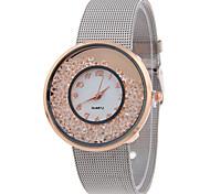 Damen Modeuhr Armbanduhr Quartz Edelstahl Band Cool Bequem Elegante Silber