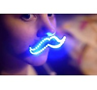 KWB NEW LED Luminous Hairy Mustache 8 Modes Flashing Cool Dress Up Night Light