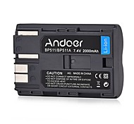 Andoer BP-511/BP-511A Rechargeable Li-ion Battery 7.4V 2000mAh for Canon EOS 50D 40D 30D Series Powershot Pro 1 90 EOS 20D 30D 40D