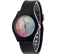 Жен. Модные часы Наручные часы Китайский Кварцевый силиконовый Группа Черный Белый