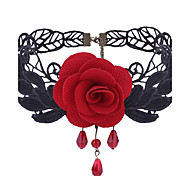 cheap -Women's Others Flower Shape Floral Elegant Sweet Choker Necklace Lace Alloy Choker Necklace Daily Casual Costume Jewelry