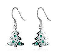 Mujer Pendientes colgantes Pendients de aro Clásico Moda Cobre Plateado Legierung Forma de Hoja Árbol de la vida árbol de Navidad Joyas