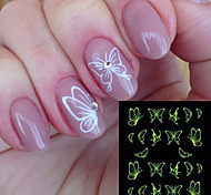 cheap -9pcs/set Water Transfer Sticker / Nail Sticker Nail Stamping Template Nail Art Design Nail Art DIY Tool Accessory / Nail Decals Cute