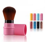 cheap -1Pc Portable Retractable Makeup Brush Professional Cosmetic Makeup Color Random