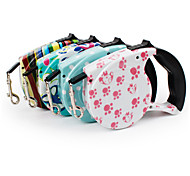 Dog Leash Portable Geometric Nylon Rainbow Pink Blue White