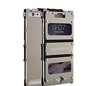 Недорогие -Кейс для Назначение Apple iPhone 6 iPhone 6 Plus с окошком Чехол Сплошной цвет Твердый Металл для iPhone 6s Plus iPhone 6 Plus Айфон 6
