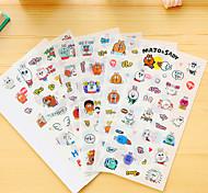 6 шт / набор мультфильм кролик дневник стикер телефон стикер записки наклейки