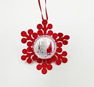 Snow Plastic Ball Non-Woven Fabric Christmas Ornament