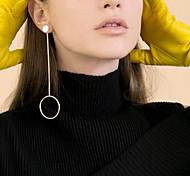 Недорогие -Серьги-кольца мотаться Бижутерия Медь Круглый дизайн В виде подвески Мода По заказу покупателя Euramerican Круглой формыЗолотой