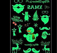 Недорогие -Рождество Наклейки Простые наклейки Декоративные наклейки на стены, Винил Украшение дома Наклейка на стену Холодильник Окно