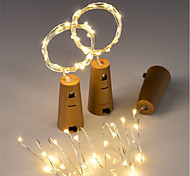 cheap -3pcs 15-LED 0.75M Copper Wire String Light with Bottle Stopper for Glass Craft Bottle Fairy Valentines Wedding Decoration Lamp Party