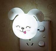1pc Light Control AC Powered LED Night Light Rabbit Shape