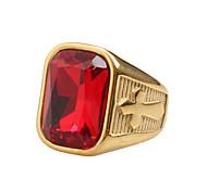Муж. Классические кольца Цирконий Винтаж Рок Хип-хоп Массивные украшения Титановая сталь Бижутерия Назначение Повседневные