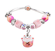 Women's Chain Bracelet Onyx Metallic Fashion China Coral Alloy Geometric Jewelry For School Going out