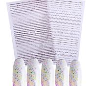 Недорогие -Стикер искусства ногтя Наклейки Аппликации Инструменты сделай-сам макияж Косметические Ногтевой дизайн